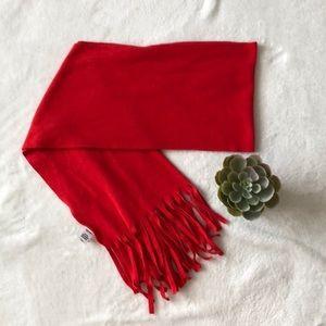 Old Navy red felt scarf